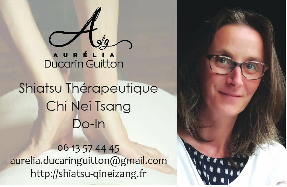Coordonnées Aurélia Ducarin Guitton Praticienne shiatsu thérapeutique et Chi nei tsang Asnières et Paris 13
